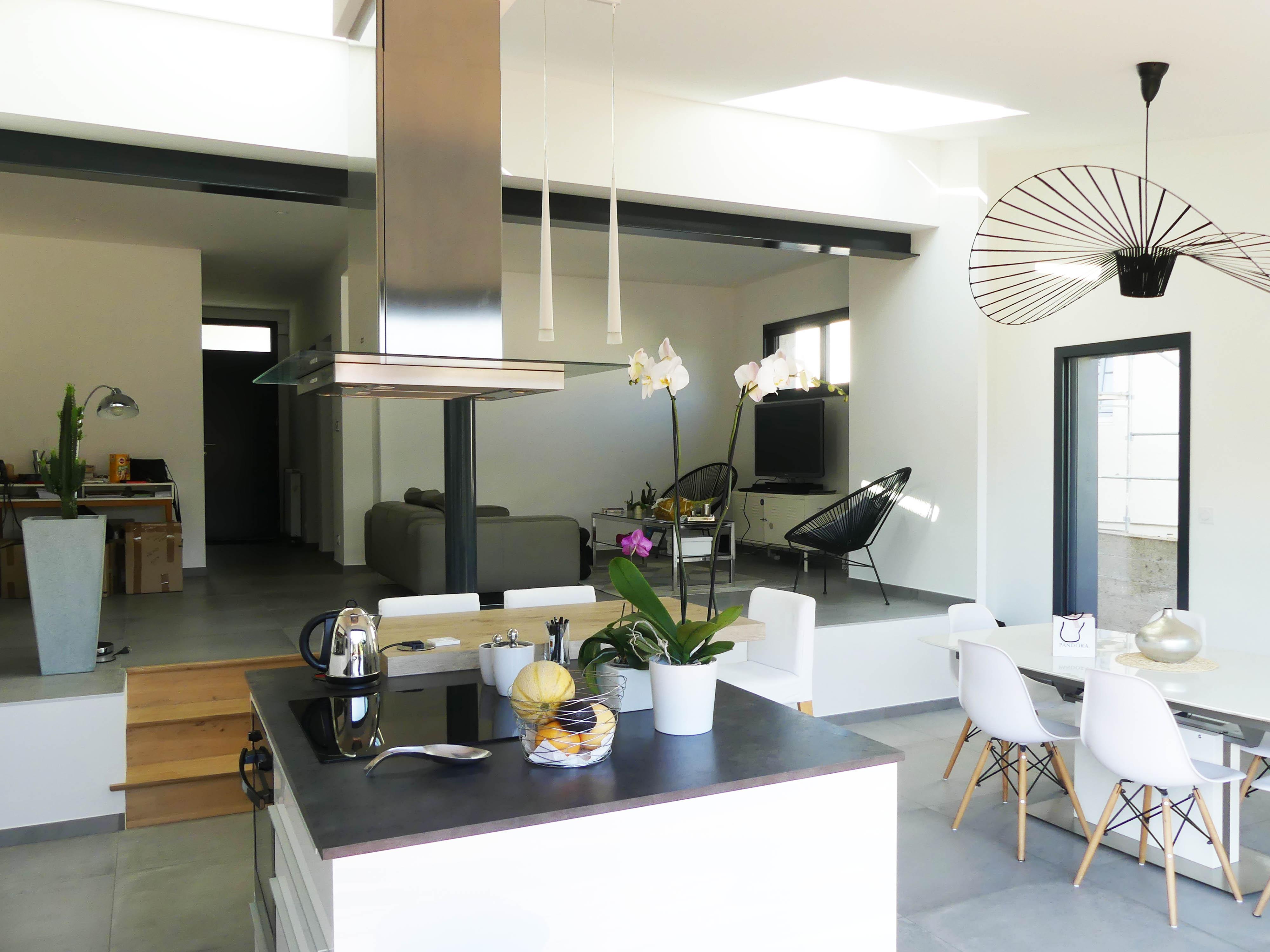 Rénovation maison avec extension zinc et terrasse bois, à Angers 12
