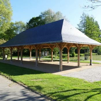 Construction d'une halle couverte ouverte en Mayenne 8